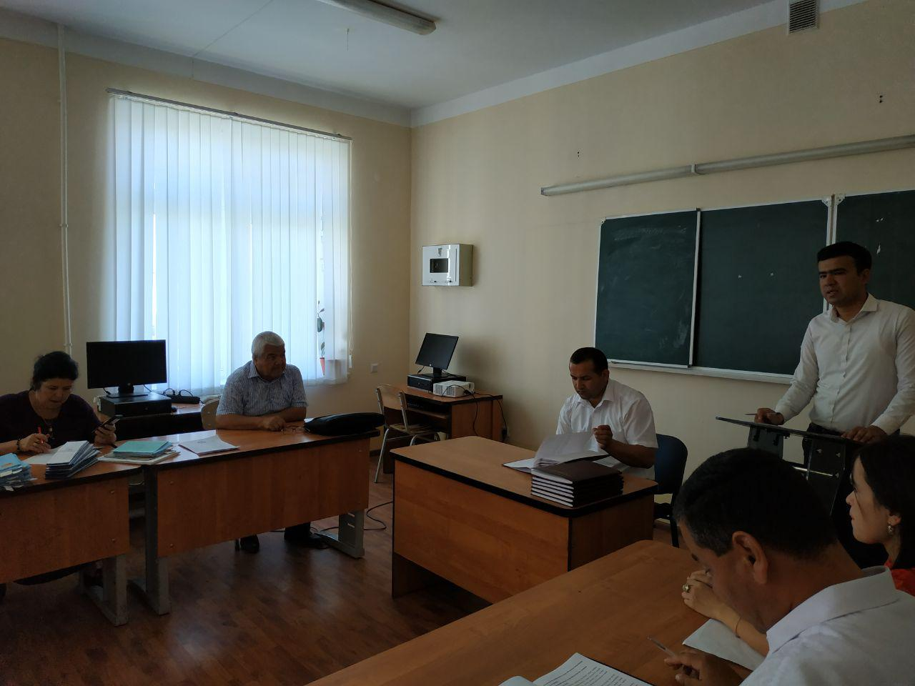 Protection of GEW(graduating experience work) of the students of History faculty