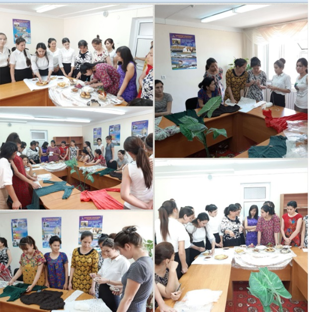 """On June 15, 2019, students of the 171-172 group of  """"Primary education and sports  educational work"""" visited the 1st student dormitory and held a mas"""