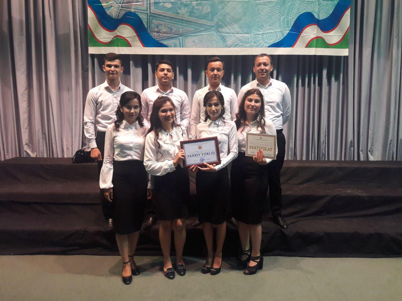 """UrSU choir team was awarded with honorary diploma and certificate at republican stage of republican competition """"Yagonasan, muqaddas vatan!"""""""