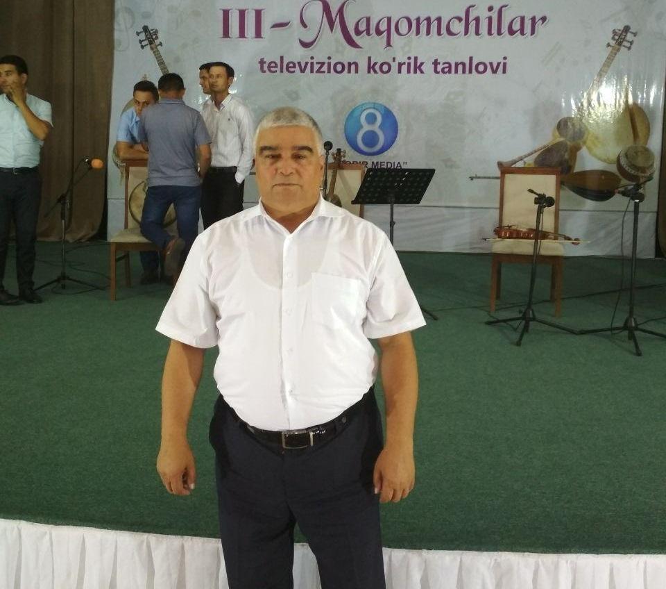 Samandar Khudoyberganov, Professor of Music Education, is in Maqom contest