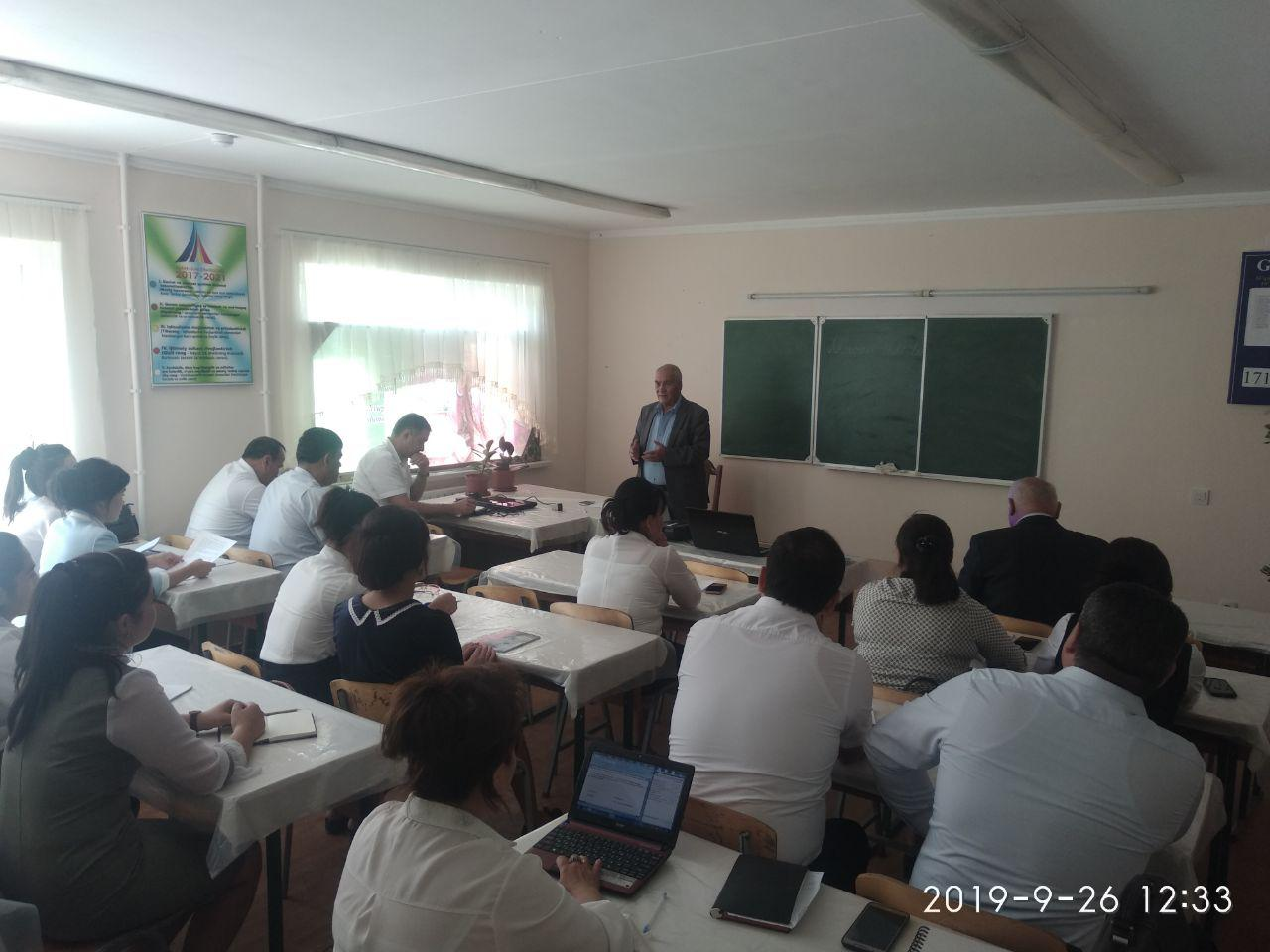 On September 26, 2013 the scientific-theoretical seminar of the chair of the Uzbek language was held