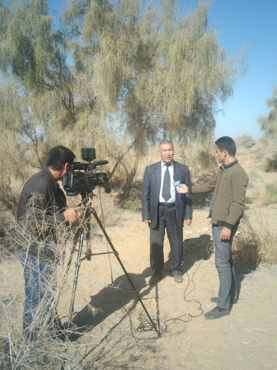 Department of Soil Science Kamolov made an appearance on Khorezm TV