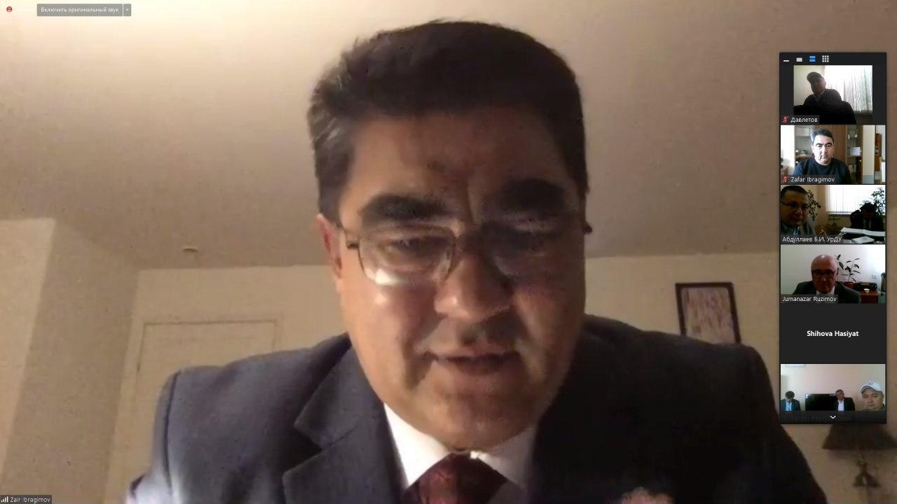 AQShning Fullerton shahridagi Kaliforniya Davlat universiteti olimi Zoyir Ibragimov bilan video-konferentsiya o'tkazildi