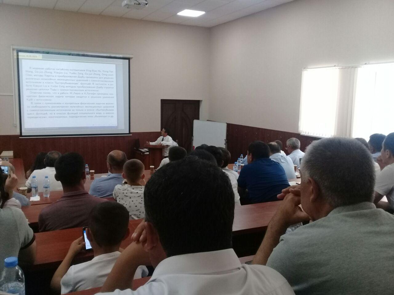 On June 28, 2019 Babadjanov Bazar Atadjanovich  associate professor of Department of Applied Mathematics and Mathematical Physics of Physics and Mathematics Faculty, successfully defended his doctoral thesis