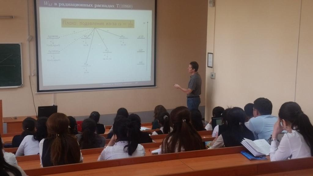 """Prof. A.Nefedev from Russian academy of science get a lecture by subject """"Nuclear physics"""" to the 3- course students on aprel 9-16 2019y."""