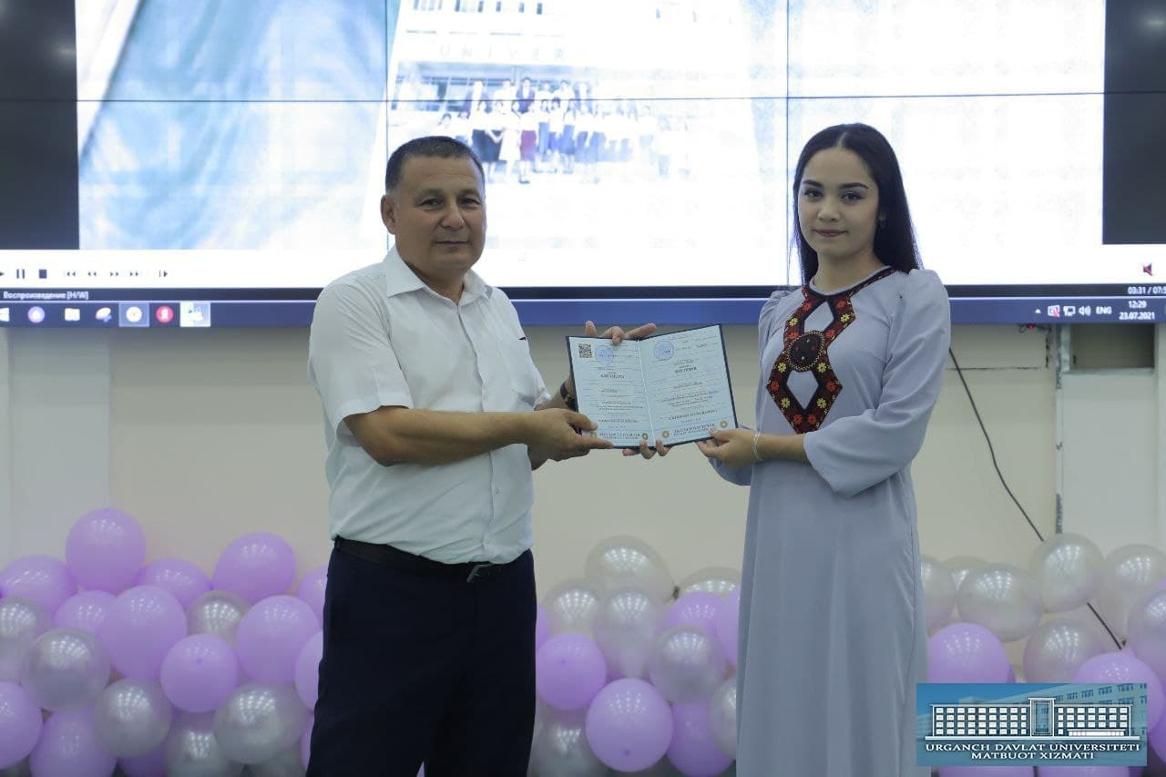 urdu.uz, Urganch davlat universiteti rektori  Abdullayev Baxrom Ismoilovich