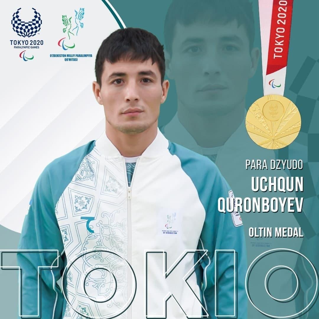 Tokyo 2020: Urgench State University student Uchkun Quranbaev won the Gold Medal.