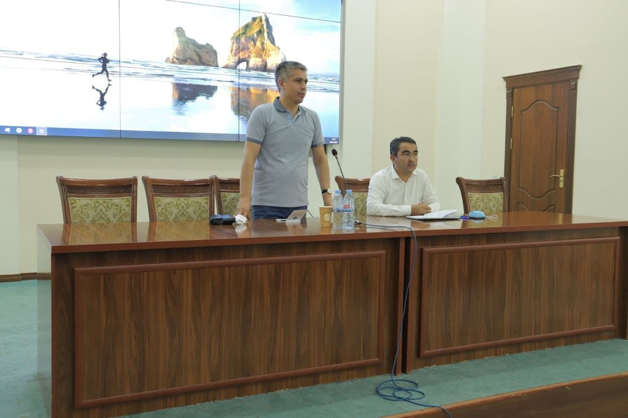 Vice-Minister of Higher and Secondary Special Education for Science and Innovations Khakimov Rakhimjon Rasuljonovich visited Urgench state university