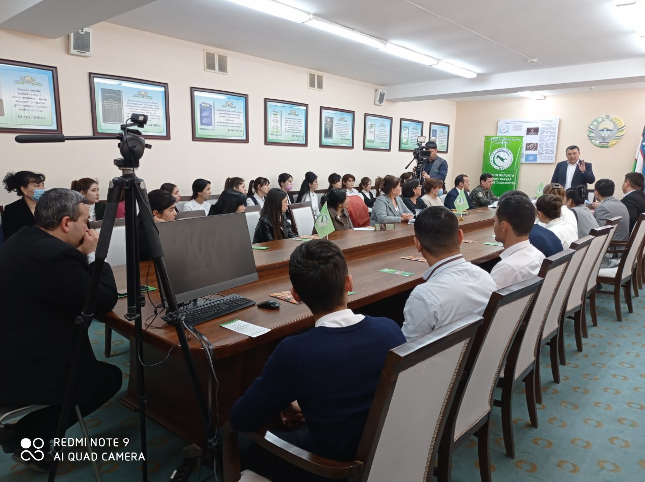 Meeting of the leader of the Ecological Party of Uzbekistan and deputies of the Oliy Majlis with students of UrSU